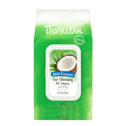 TropiClean Ear Cleaning Wipes Mild Coconut 50 pk