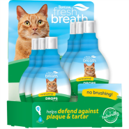 TropiClean Fresh Breath Water Drops Display for Cats 6 pc