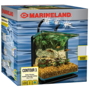 Marineland 3 gal Contour Aquarium Kit