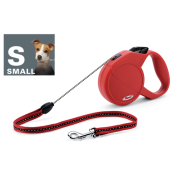 Flexi Classic Long 1 Sm Dog to 15 kg Red