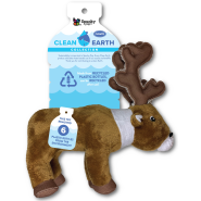 Spunky Pup Clean Earth Recycled Plush Caribou Large