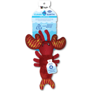 Spunky Pup Clean Earth Recycled Plush Lobster Small