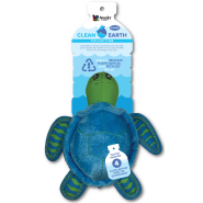 Spunky Pup Clean Earth Recycled Plush Turtle Small