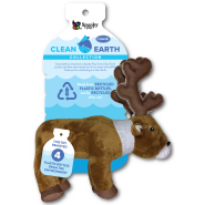 Spunky Pup Clean Earth Recycled Plush Caribou Small