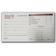 Naturally Fresh Frequent Buyer Program Envelope 10 pk