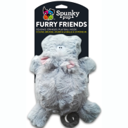 Spunky Pup Furry Friends Hippo w/ Ball Squeaker