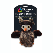 Spunky Pup Furry Friends Owl w/ Ball Squeaker