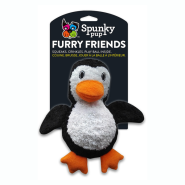 Spunky Pup Furry Friends Penguin w/ Ball Squeaker