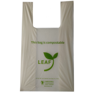 Leaf Compostable Zero Plastic Shopping Bags 30cmx50cm 500 cs