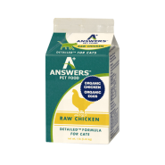 Answers Cat Detailed Raw Chicken Formula 1 lb