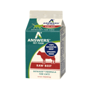 Answers Cat Detailed Raw Beef Formula 1 lb