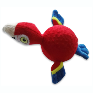 Spunky Pup Furry Friends Parrot w/ Ball Squeaker