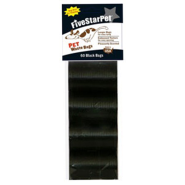 Five Star Cored Refill Bags Black 4x15 ct