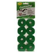 Five Star Cored Refill Bags Green 8x120 ct