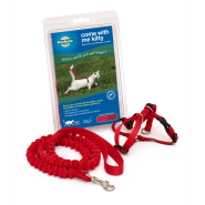 Petsafe Come with Me Kitty Harness & Bungee Leash Small Red