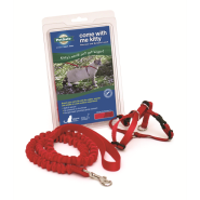 Petsafe Come with Me Kitty Harness & Bungee Leash Medium Red
