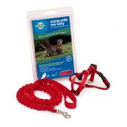 PetSafe Come With Me Kitty Harness & Bungee Leash Large Red