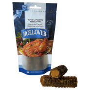 Rollover Holiday Stuffed Chewbies Turkey & Cranberry Sm 2 pk