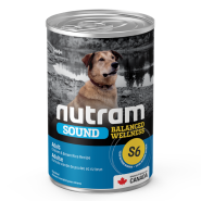 Nutram Sound Dog S6 Balanced Wellness Adult 12/369 gm