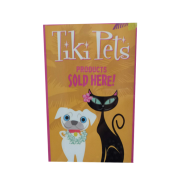 Tiki Pet Sold Here Window Cling