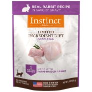 Instinct Cat GF LID Real Rabbit 24/3 oz Pouch