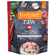 Instinct Dog Raw Natural Beef Medallions 3 lb