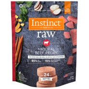 Instinct Raw Dog Natural Beef Patties 6 lb