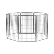 "Precision Courtyard Kennel 38"" Silver Crackle"
