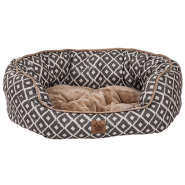 Snz Ikat Daydreamer Bed Gray 26x22x9.5""