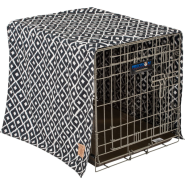 Snz Ikat Crate Cover Navy 24x19x18""