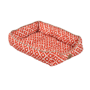 Snz Ikat Drawer Bed Orange 24x18x6""