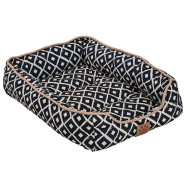 Snz Ikat Drawer Bed Navy 24x18x6""
