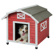 Precision Old Red Barn Dog House Lg 50-70 lb