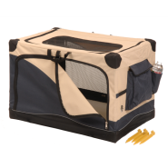 "Precision 1000 Soft Side Pet Crate 20x13x12"" Navy/Tan"