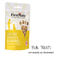 FirstMate Dog LID GF Chicken/Blueberries Cookies Bulk 10 lb