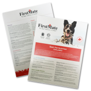 FirstMate Basic Pet Nutrition Sheet