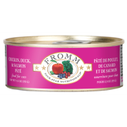 Four-Star Cat Chicken Duck & Salmon Pate 12/5.5 oz