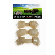 "Bison Peggable Small Bones 4-5"" 3 pk"