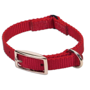 Nylon Safety Cat Collar Red 12""