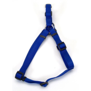 "Comfort Wrap Adj Nyl Harness 3/4x20-30"" Blue"