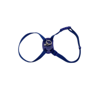 SizeRight SnagProof Adj Nylon Cat Harness Blue 18""