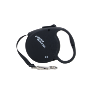 Power Walker Retractable Leash Black Xsmall