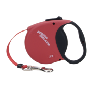 Power Walker Retractable Leash Red Xsmall