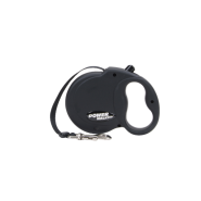 Power Walker Retractable Leash Black Medium