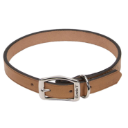 "CircleT Oak Tanned Leather Town Collar 1x22"" Tan"