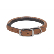 "CircleT Oak Tanned Leather Round Collar 3/8x14"" Tan"