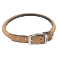 "CircleT Oak Tanned Leather Round Collar 3/4x18"" Tan"