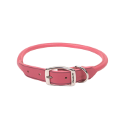 "CircleT Oak Tanned Leather Round Collar 3/4x18"" Pink"