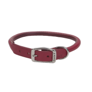 "CircleT Oak Tanned Leather Round Collar 1x22"" Red"