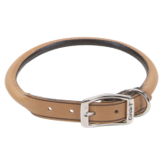 "CircleT Oak Tanned Leather Round Collar 1x22"" Tan"